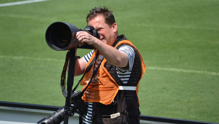 Photographer 833x474 - 3 Tips On How To Film Sports Events